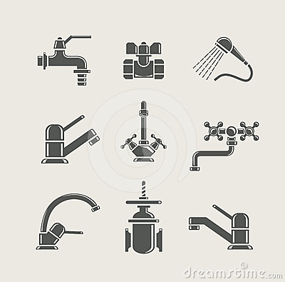 Free Water-supply Faucet Mixer, Tap, Valve For Water Stock Images - 24602594