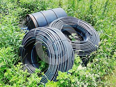 Water supply pipe in farmland
