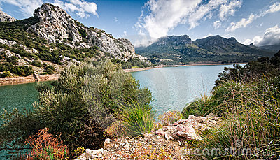 Water supply reservoir majorca gorg blau