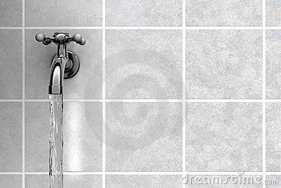 Water Tap on tiles