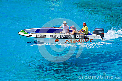 Water Taxi at Blue Lagoon Editorial Image