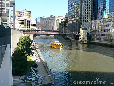 Water taxi, Chicago, Illinois Editorial Stock Photo