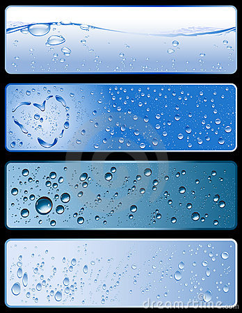 Water texture banners