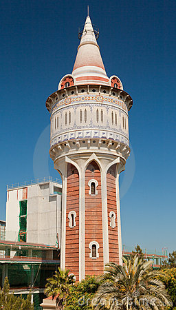 Water Tower in Barcelona Spain