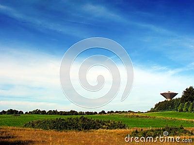 Water Tower In Field