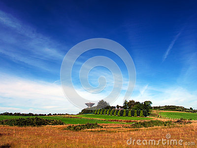 Water Tower In Field