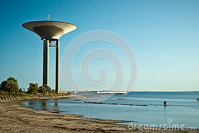 Water tower in Lanskorna, Sweden