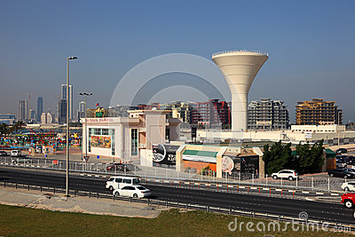 Water tower in Manama, Bahrain Editorial Photography