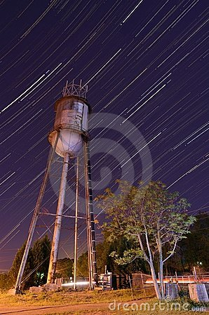 Water Tower and Star Trails