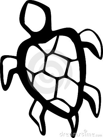 water turtle vector illustration