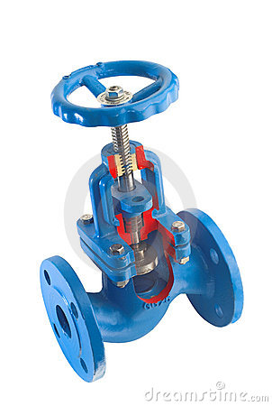 Water valve with flanges