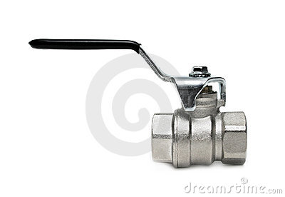 Water valve isolated