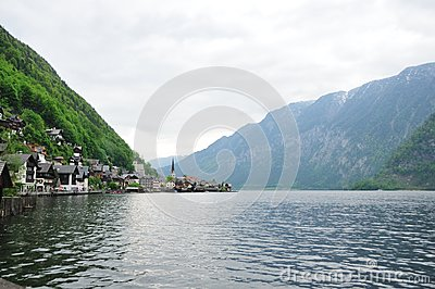 Water view of Hallstatt, Austria