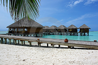 Water villas and jetty