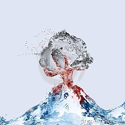 Free Water Volcano Erupting Stock Photo - 95388600