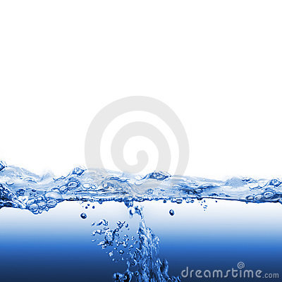 Free Water Wave And Bubbles Royalty Free Stock Image - 23153576