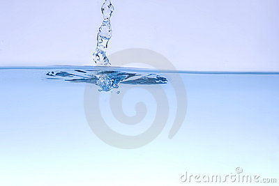 Water wave and bubbles