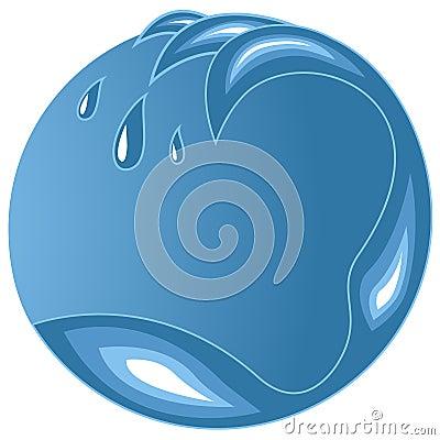 Water wave emblem