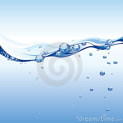 Free Water Wave With Bubbles Stock Images - 6147344