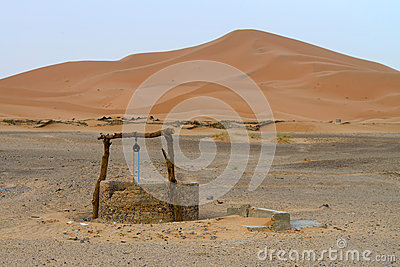 Water well in Sahara