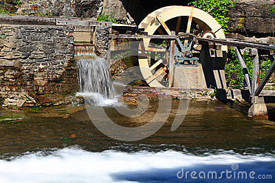 Water Wheel detail from live museum.