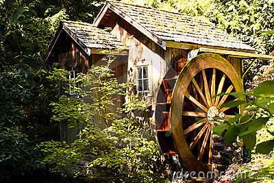 Water Wheel House Royalty Free Stock Photography Image 9129347