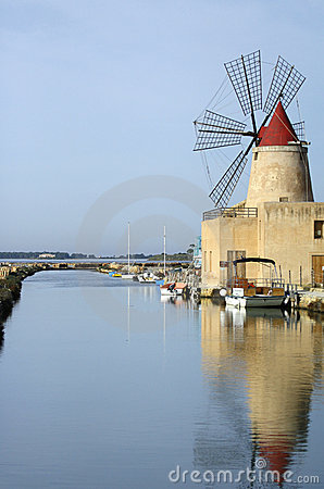 Water and windmill