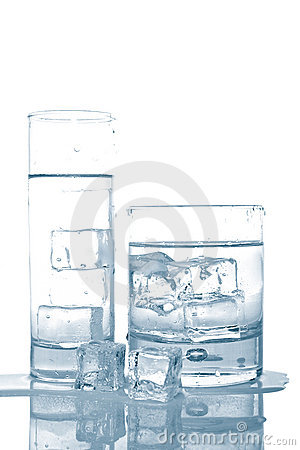 Free Water With Ice Cubes Royalty Free Stock Photos - 4839138