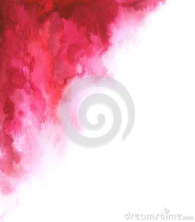 Watercolor abstract red and white gradient background for your design Stock Photo