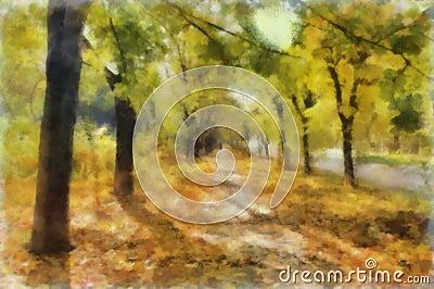 Watercolor alley