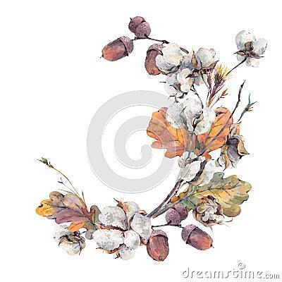 Free Watercolor Autumn Vintage Bouquet Stock Photography - 74801842