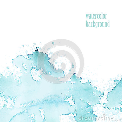 Free Watercolor Background For Layout. Vector Blue Splashes. Royalty Free Stock Image - 56076116