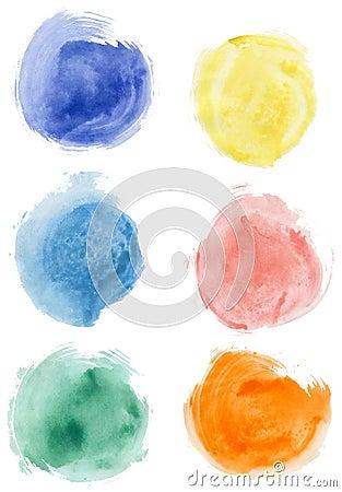 Free Watercolor Blobs Royalty Free Stock Photos - 17001568