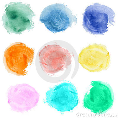 Free Watercolor Blobs Royalty Free Stock Image - 17001596