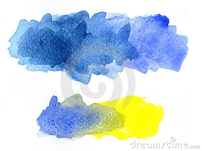 Watercolor blotches