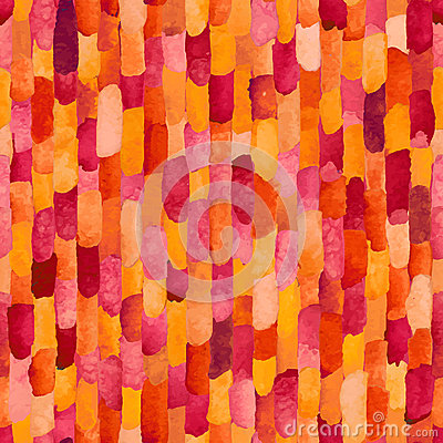 Free Watercolor Bricks. Vector Abstract Seamless Pattern. Royalty Free Stock Images - 51716899