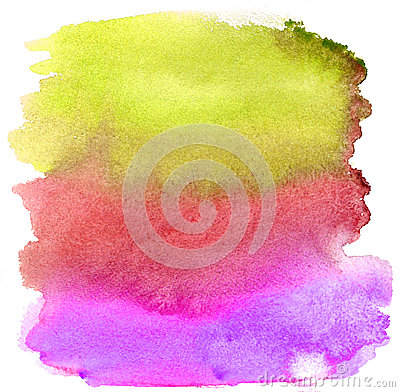 Free Watercolor Brush Strokes. Background Stock Photo - 25546600