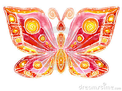 Watercolor the butterfly