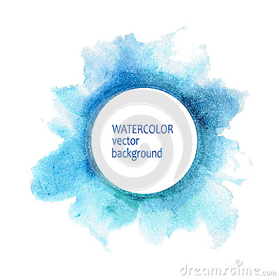 Free Watercolor Circle Hand Paint On White Background Stock Photography - 52370822