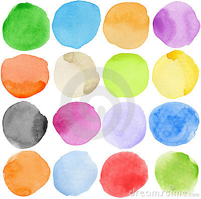 Free Watercolor Circles Royalty Free Stock Images - 18918169
