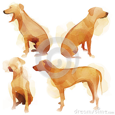 Free Watercolor Dog Stock Images - 42746194