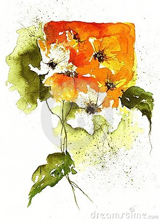 Watercolor floral Design