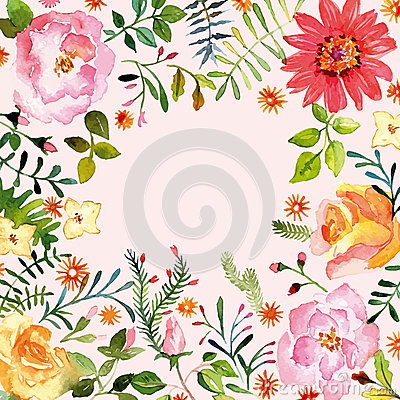 Free Watercolor. Floral Ornament. Spring. Stock Photos - 49334593