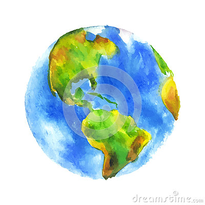 Free Watercolor Globe Stock Image - 53413071