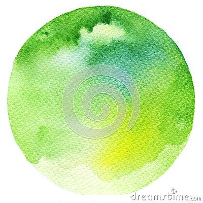 Free Watercolor Green Circle Royalty Free Stock Photography - 51310687