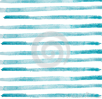 Free Watercolor Hand Painted Brush Strokes, Line, Banners. Isolated On White Background. Royalty Free Stock Photos - 69253718