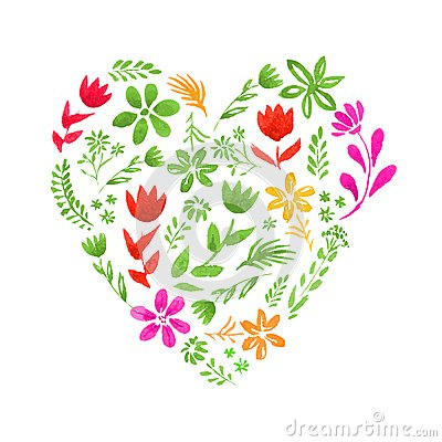 Free Watercolor Heart Royalty Free Stock Image - 46167016