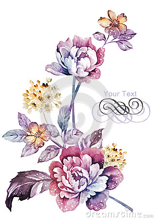 Free Watercolor Illustration Flower In Simple Background Royalty Free Stock Images - 43419249