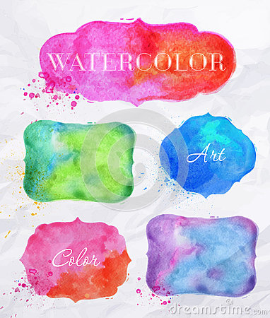 Free Watercolor Labels Stock Photos - 40237793