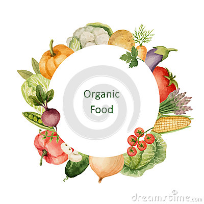 Free Watercolor Painted Organic Vegetables. Royalty Free Stock Photography - 72541137